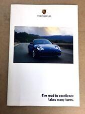 "2002 PORSCHE ALL MODELS BROCHURE POSTER GT2 8 PAGES 30/"" X 22/"" POSTER MINT"