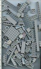 LEGO x 90 Light Bluish Gray Brick Plate Pieces