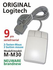 Logitech M-M30 3-Tasten Maus mouse 3 button *seriell* 9pin serial RS-232 *NEU*