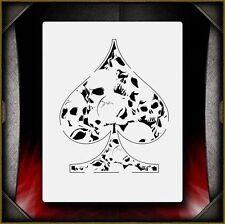 """Skull Spade"" Airbrush Stencil Template Airsick"