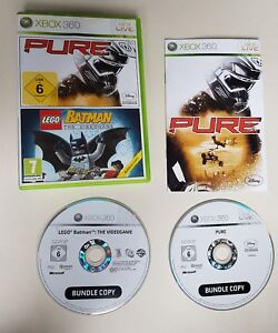 XBOX 360 Double Game PURE / LEGO BATMAN THE VIDEOGAME 2 GAMES
