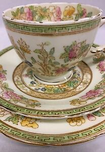 Vintage Sutherland China Trio with Indian Tree Pattern 2481 circa 1930's