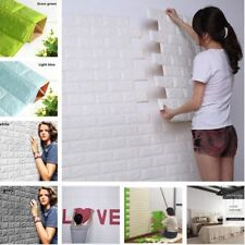 PE Foam 3D Self Adhesive DIY Panels Wall Stickers Wall Decor Embossed Brick