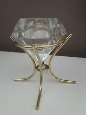 *ALL PROCEEDS TO CHARITY * Partylite Glass Diamond Shaped Candle Holder