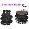 Clear/hd Frontal+Brazilian Bundle+Wig Cap Straight Wave Curly Virgin Human Hair