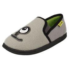 Scarpe pantofole grigi per bambini dai 2 ai 16 anni da infilare
