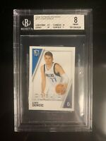 LUKA DONCIC 2018-19 PANINI STICKER #217 ROOKIE RC BGS 8 W/2 9.5 AND 10
