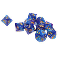 10pcs 10 Sided Dice D10 Polyhedral Dice for Dungeons and Dragons Games Blue