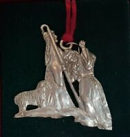 Seagull Pewter Nativity Scene Christmas Ornament