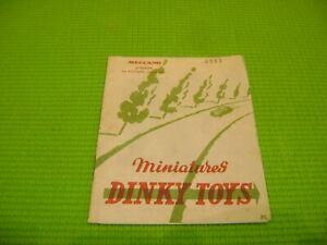 DINKY TOYS CATALOGUE 1952