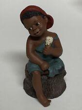 "Jerome Miss Martha All God's Children Figurine 4 3/4"" Sitting on Stump + Box"