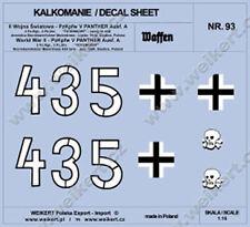 1:16 - WATER DECALS - PzKpfw. V PANTHER Ausf. A tank -  3rd Pz Reg, 3rd Pz Div