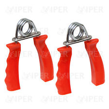 Hand Gripper Strengthener Red Forearm Exerciser Wrist Fitness Gym Pair RED