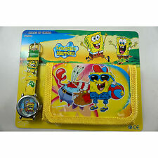 Spongebob Squarepants Bob Children's Wrist Watch & Purse Wallet Set For Kids