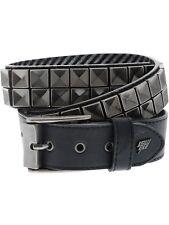 Lowlife Black-pewter Concave Studded Belt M