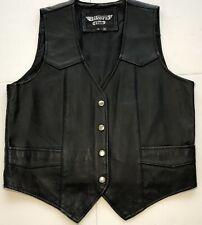 Bikers Club Mens leather motorcycle biker vest -XL Beautiful!