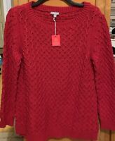 NWT Talbots Active Leisure Red Sweater SZ Medium Petite MP Wool Blend