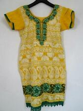 Pretty Kaftan Style DRESS    Yellow/Green      Size S UK 8-10          094 G