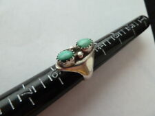 Stone Turquoise Ring Size 5.5 Vintage 925Sterling Silver Blue Turquoise 2
