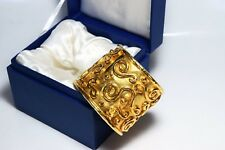 Cuff Made in Paris in Box Vintage Golden Bracelet E.Rambaud pour Lancome Bangle