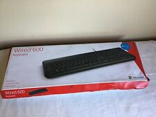 New Open Box 2014 Microsoft Wired 600 Keyboard Windows 7,8,10 Compatible #1576