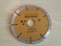 "115mm 4.5"" Diamond Mortar Rake Disc Blade Angle Grinder Cement Brick Masonry"