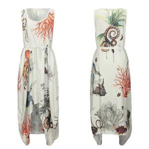Bolongaro Trevor Love Song Parchude Dress In Ivory Botanical Pattern Size S BNWT