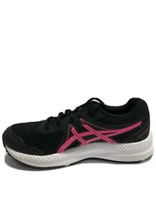 Asics Kids' Contend 7 GS, Black/Pink Athletic Sneakers, Boys' Size 4.5.