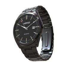 ARYKX Men Fashion Stainless Steel Watch Waterproof Date Sport Quartz Wrist Watch