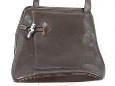 LONGCHAMP Brown Leather Medium Hobo Crossbody Bucket Bag