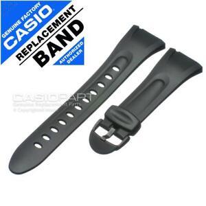 Genuine Casio Watch Band Illuminator W-42 W-43 W-42H-1AV W-43H-1AV Black Strap