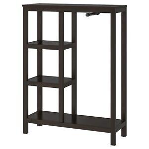 "IKEA HEMNES Open wardrobe, black-brown 39x14 5/8x51 1/8"" SOLID WOOD BRAND NEW-"