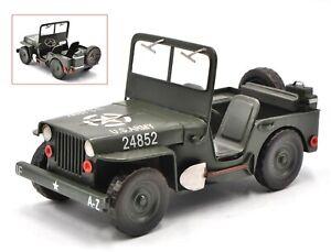 USA Army 1940 c Jeep 1:12 Car Scale Model World War II Sculpture Statue Hot Cast