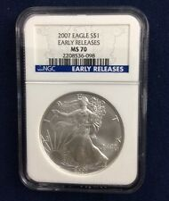 2007  Silver Eagle NGC MS 70 Early Releases