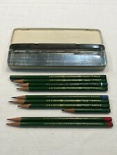 Vintage Mixed Lot 10 A.W. Faber Castell Ink Pencils, Drafting Green Blue Red