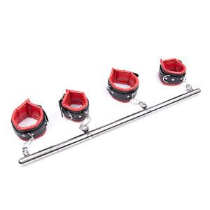 New Spreader Ankle & Wrist Restraints Bondage Kit Fetish Fancy Tool 2 Colours CN