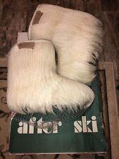 Dalbello italian goat hair boots after ski size 8/9 Euc