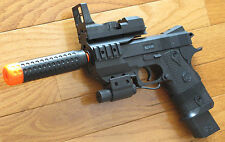 Airsoft Spring Pistol W/Barre Extension, Red Laser, Fake Scope 230 FPS
