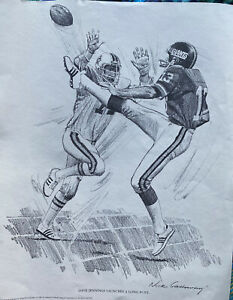 """1981 Shell Oil 10x14 Print Dave Jennings  """"Launches A Long Punt"""" NY GIANTS"""