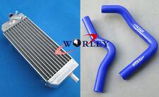 For SUZUKI RM85 RM 85 2002-2015 04 05 06 07 08 09 10 11 Aluminum Radiator & Hose