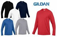 New Gildan Performance Long Sleeve T-Shirt Mens Top Tee Sleeves Shirts Crew Neck