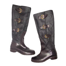 New listing STUART WIETZMAN Womens Size 6.5 Ludlow Buckle Tall Brown Boots