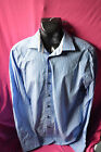 mens pre-owned long sleeve shirt by haupt.colour blue/white stripe. size M-40