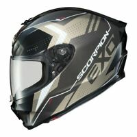 Scorpion EXO-R420 Full Face Motorcycle Street Helmet Titanium XL 75-1161X