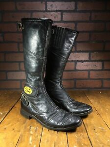 Vintage Bates Industries Fast Lanes Tall Motorcycle Street Racing Boots Size 8.5