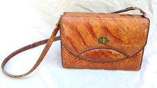 Eduardo Genuine Alligator Antique Bag Purse Strap Cuban Suede Leather Old VTG