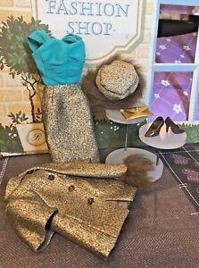 VINTAGE Reproduction BARBIE Gold N' Glamour ENSEMBLE Collectors Request GORGEOUS