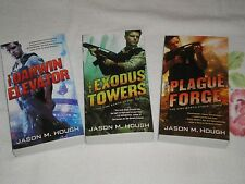 THE DIRE EARTH CYCLE VOL 1-3 by JASON M. HOUGH    *Signed*