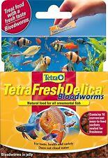 Tetra Fresh Delica Bloodworm Fish Food Treat Tropical Fish Discus Zebra Pleco