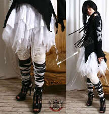 Goth/Punk VAMP 4-TIER corset BAT WING+Cobweb lace Skirt